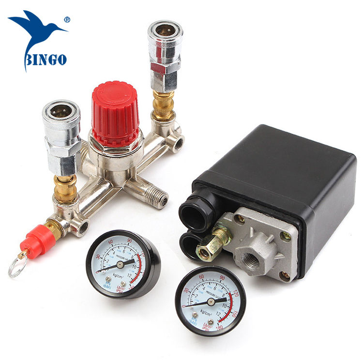 Air Compressor Pressure Switch Control Valve Manifold Regulator Gauge pressure switch