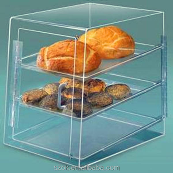 customized high clearclear acrylic food display box with door and handle promotional