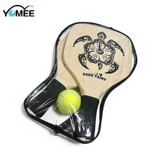 Beach Racquet  Professional Hollow Racket Wood Paddles Original+1 Ball