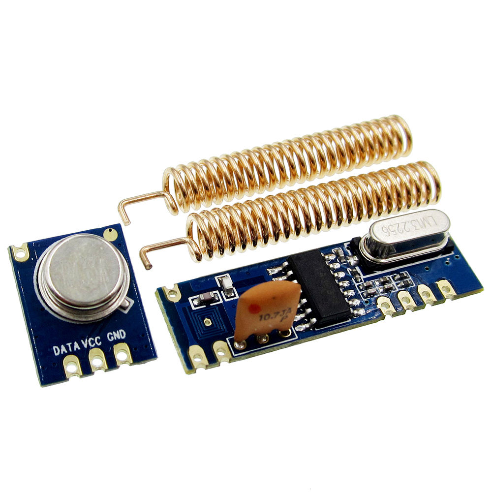 New 433 Mhz ASK RF Module Kit RF Transmitter STX882 + RF Receiver SRX882 2 Pcs Ăng Ten Xoắn Ốc Cho 433 kit