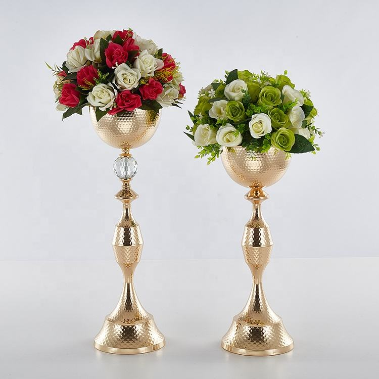 Large bowl shape vase for centre pieces wedding decoration
