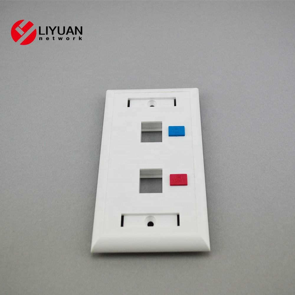 USA Type Plastic Wall Screwless Plate for Decorator Switch and Receptacle
