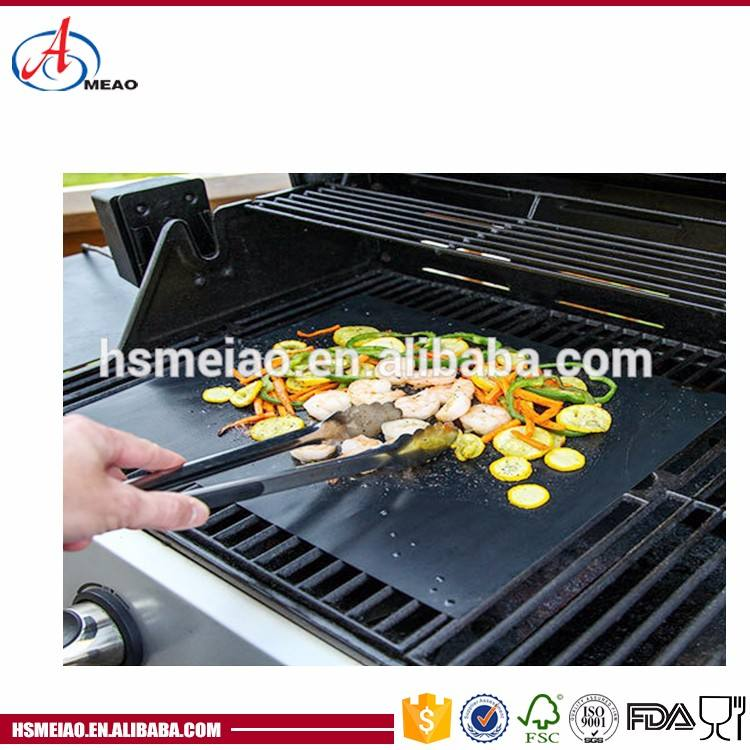 Custom non-stick rubber polypropylene silicone retardant plate bbq grill mat