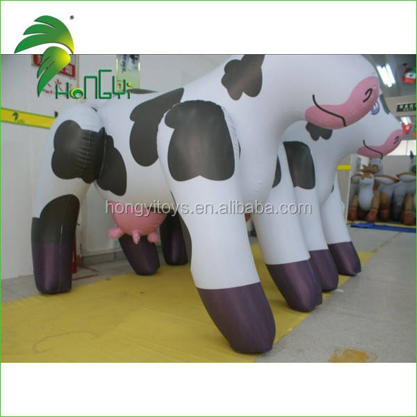 Vivid design size cow inflatable/moving cartoon for sale