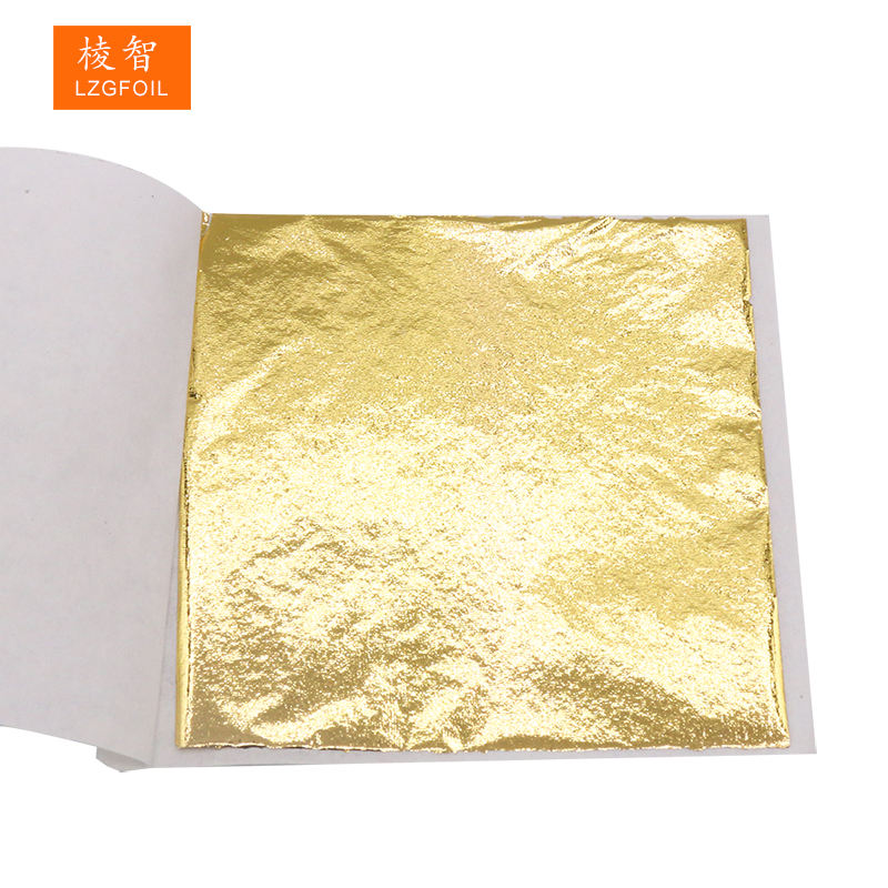 8 x 8.5 cm Best Price Colorful Taiwan Gold B Leaf Foil Paper Sheets for Art Craft and Nail Decoration Gilding Furniture