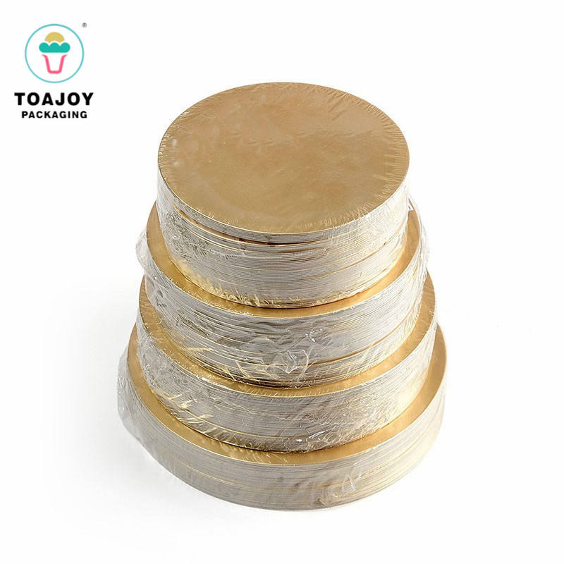 Food Grade card board cake base round gold paper cake board