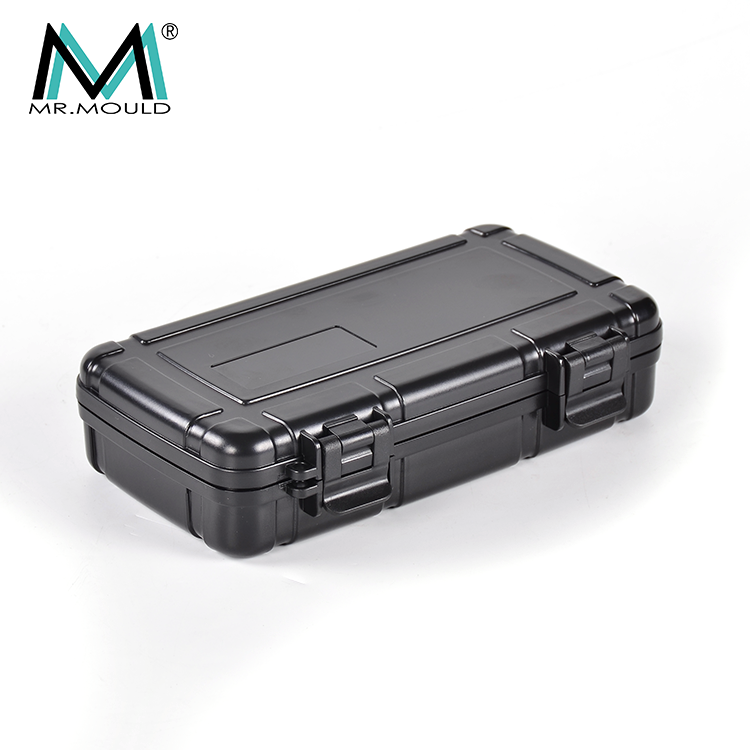 Waterproof portable double side tool box padding+ABS Clear empty large plastic tool box picture