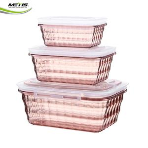 FDA Assurance 3 Compartment Food Storage Box of plastic microwave safe packaged food containers