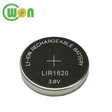 3.6V Li-ion Button LIR 1620 Rechargeable Battery LIR1620 Coin Cell Battery