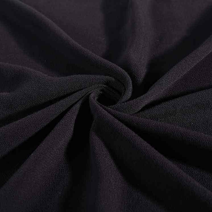 New products 100% rayon crepe clothes materials black dress material crinkle fabric