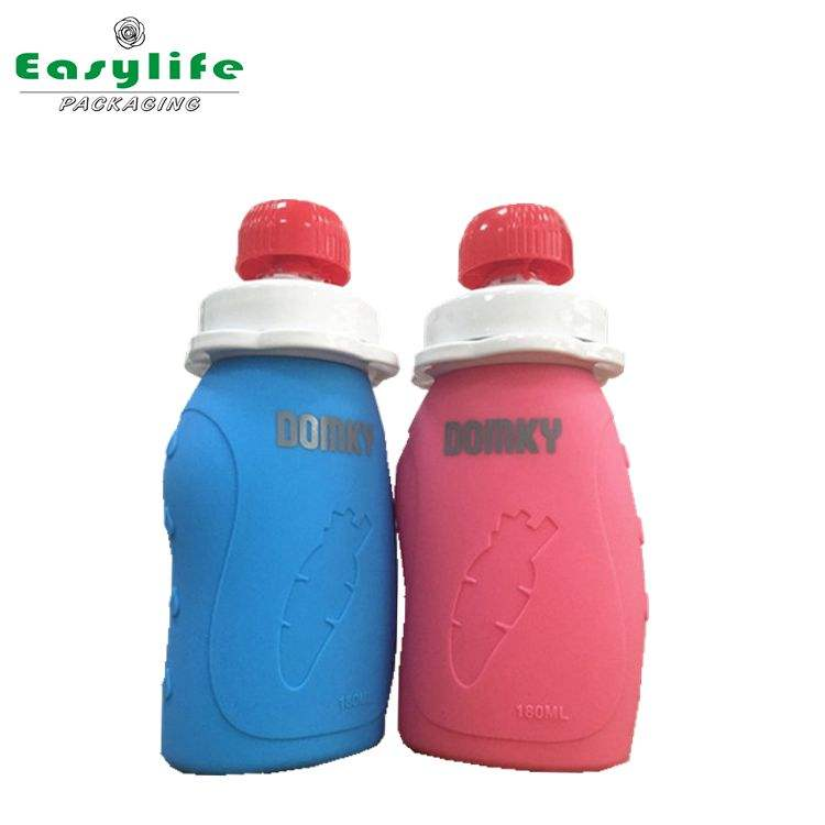 China suppliers 180ml new baby feeding silicone rubber bottle