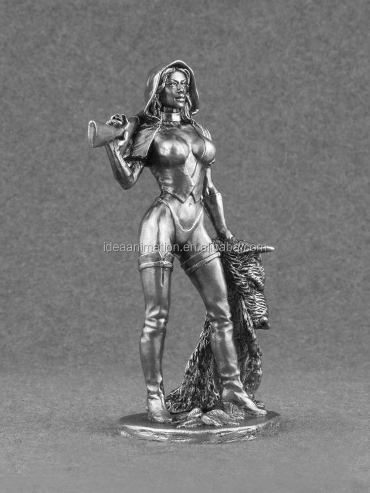 miniature unpainted woman girl female resin figure 1 24 toy 75mm