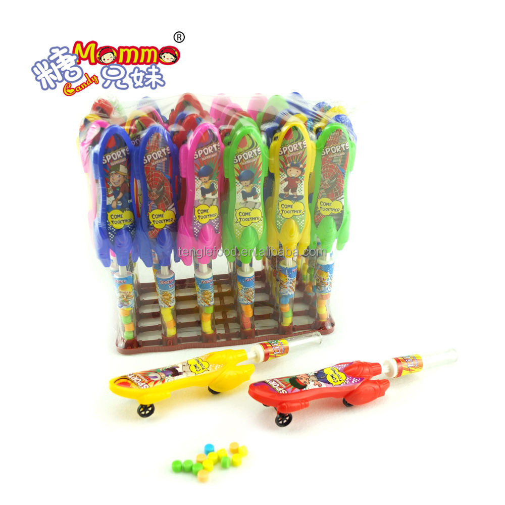 scooter toy sugar with coated gummy candy of TC-022