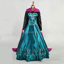 Frozen style adult princess elsa dress and cape party fancy dress costume BWG-2593