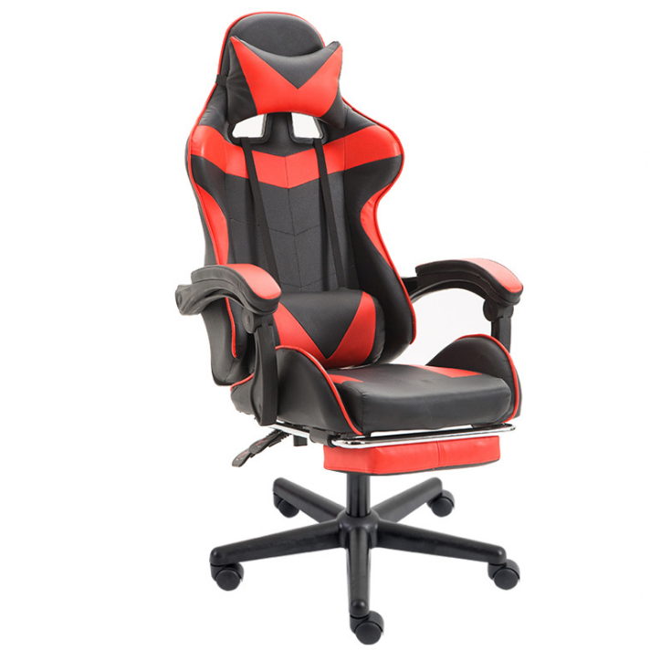 Modern Adjustable Red Black Ergonomic Cool Luxury Racing Gaming Chair For LOL Player