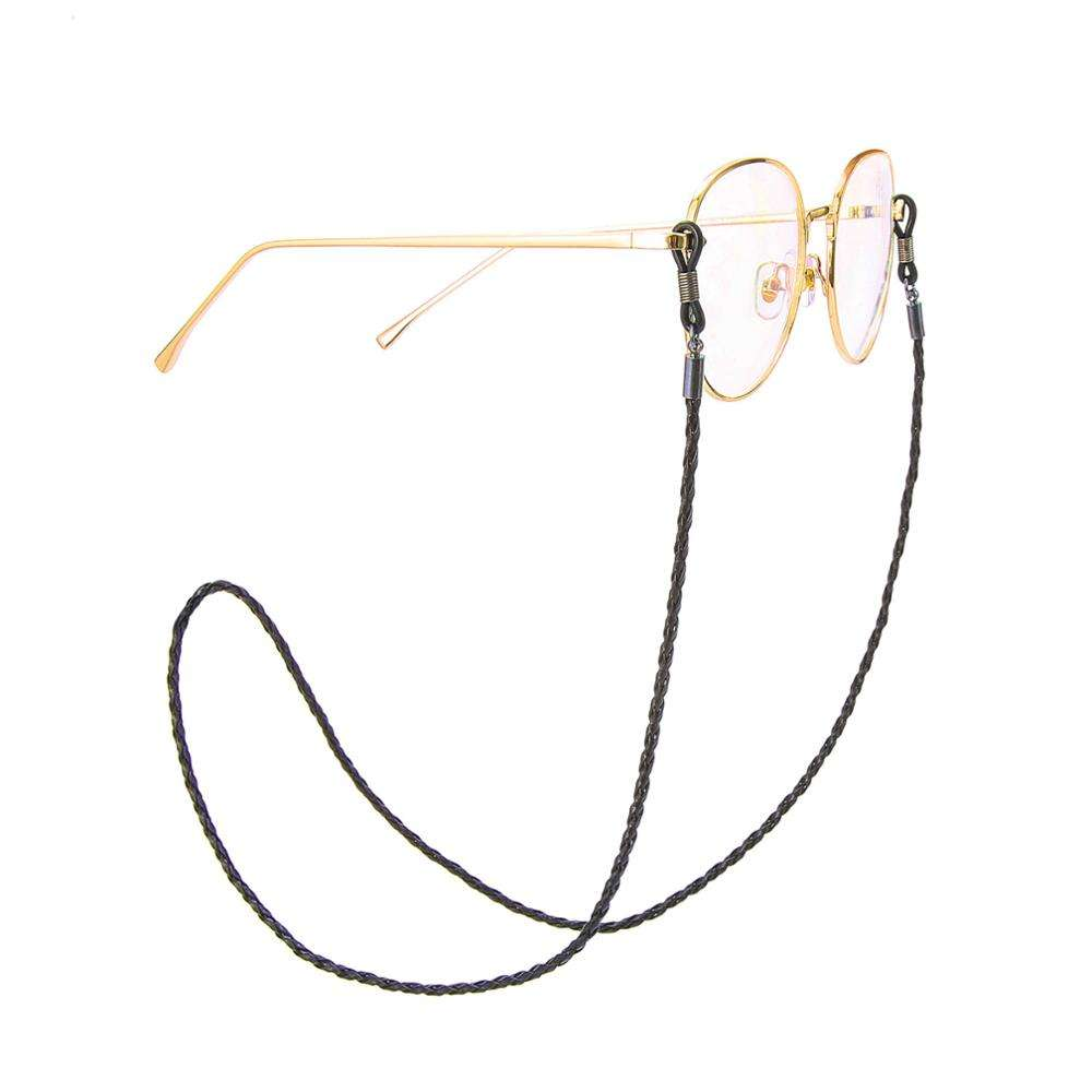 Fashionable simple glasses chain adjustable leather twist glasses rope sunglasses chain