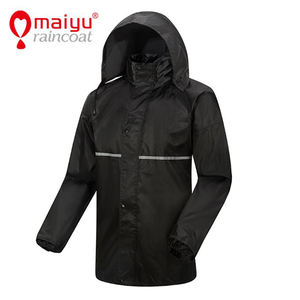 Rain Poncho Jacket Coat Adults Hooded Waterproof Outdoor Raincoat For Men
