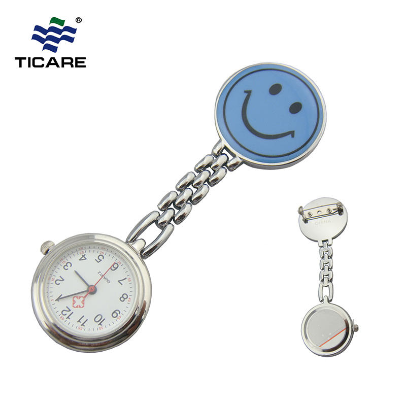 Newest Smile Face Nurse Quartz Watch Hospital Use Pocket Watches