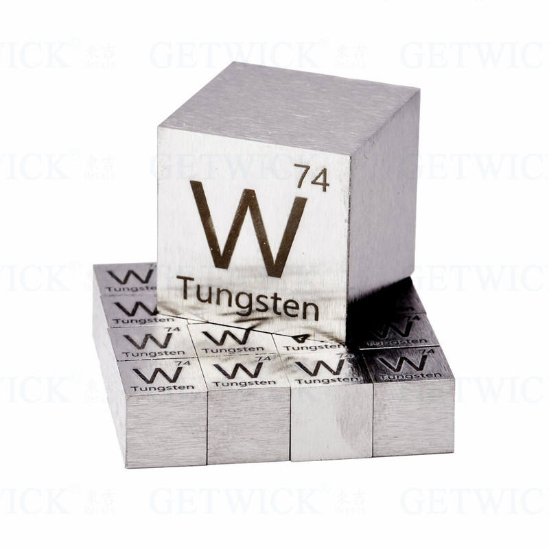 99.95% Pure Tungsten metal element cube for element collection