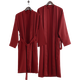 Wholesale Cotton Velour Long Red Bath Robe For Customized Embroidery Logos