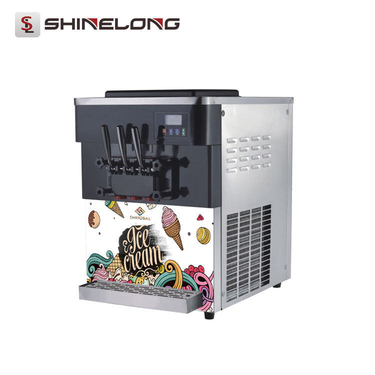 Restaurant Table Top Soft Serve Ice Cream Making Machines Business For Sale