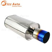 JZZ hks exhaust polished pipe Super Turbo Muffler for WRX S4