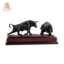 Large zoo decoration bronze bear and bull statues for sale NTBA-519Y