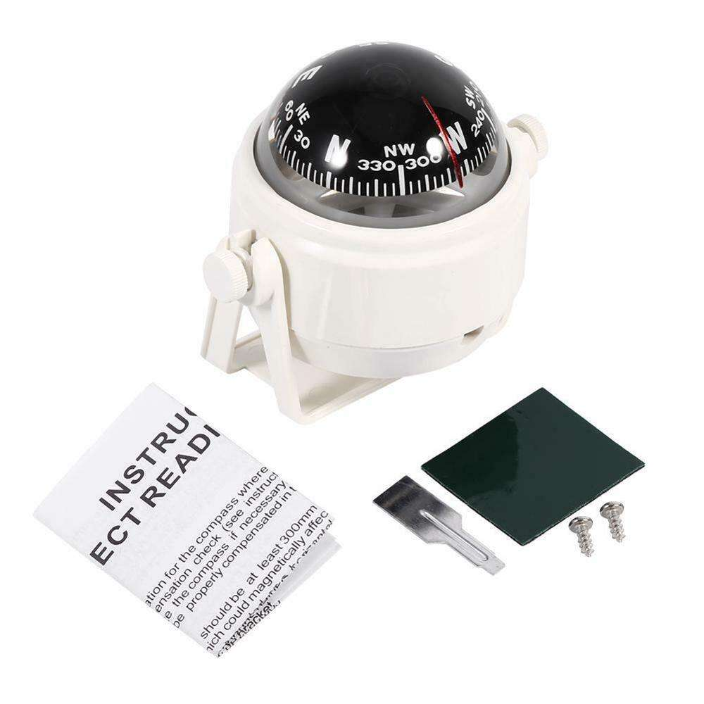 LED Light Electronic Vehicle Car Navigation Sea Marine Boat Ship Compass Tools White