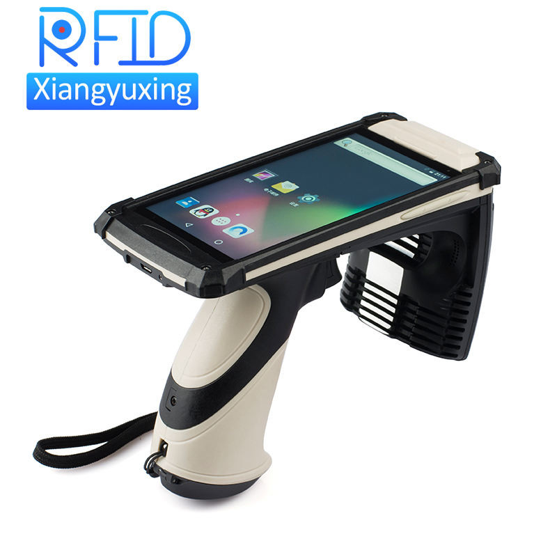 Touch Screen Mobile UHF RFID Passive Tag Reader With Barcode / QR Scanner / 4g / Camera Optional Function