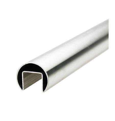 Condibe stainless steel slot tube glass stair handrail