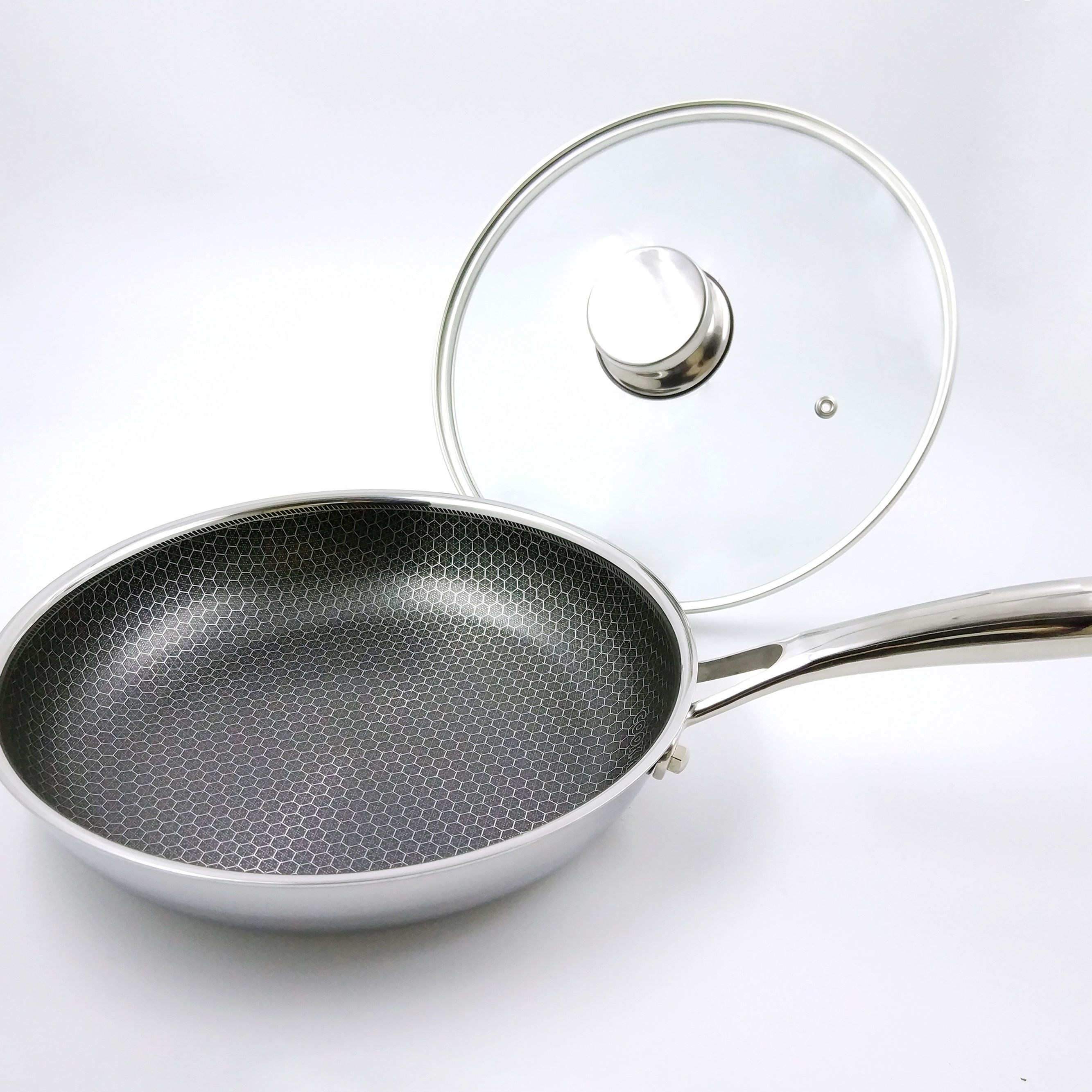 24cm/11 inch stainless steel honeycomb not stick fry pan