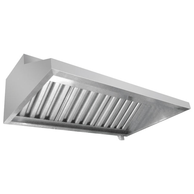 Hotel commercial stainless steel 304 Grade chimney hood with filter Wall-mouted kitchen range hood