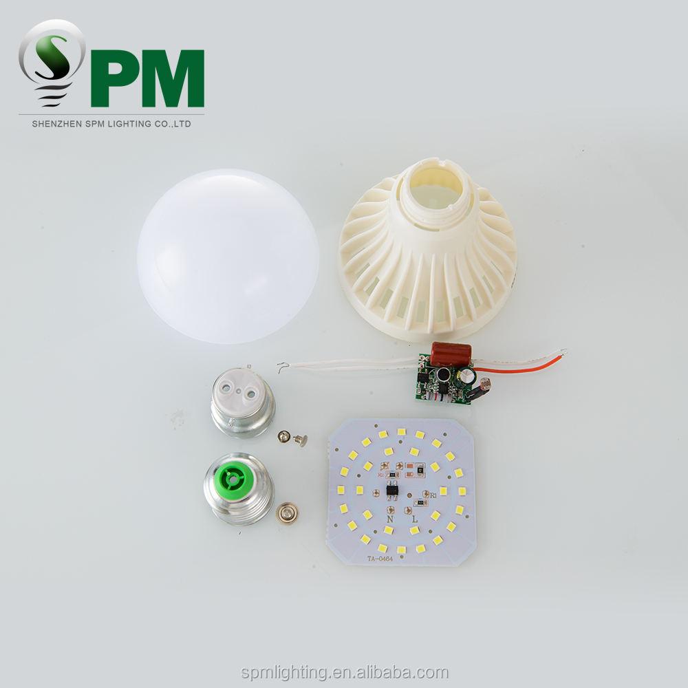 High standard hot products 12W e27 sound&light control bulb, led emergency bulb