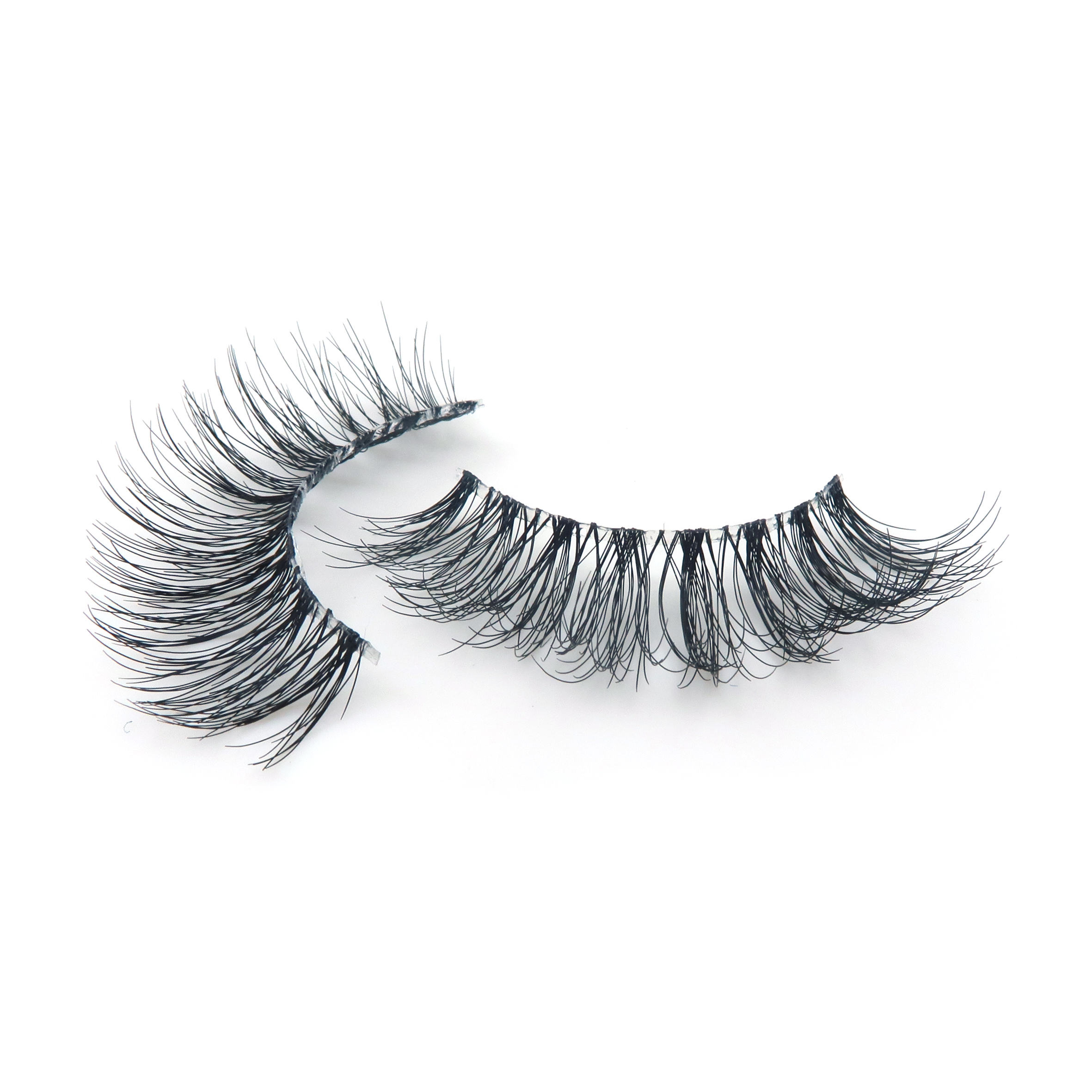 Worldbeauty Private Label Faux Mink Eyelashes Single Eyelashes Free Sample Eyelashes Hand Made 3D Effect OEM :CUSTOMER LOGO Curl