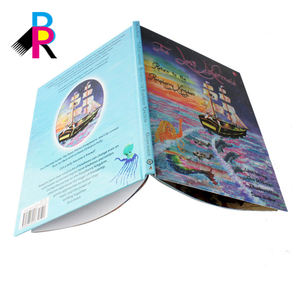 Custom colored print the latest style art flip book