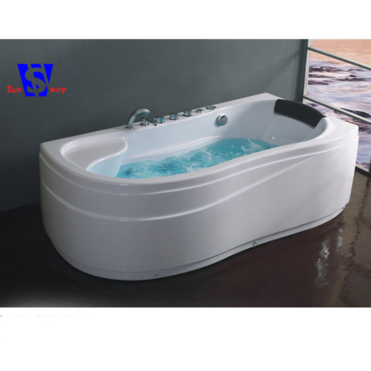 170x120x72cm Modern design abs whirlpool corner massage bathtub