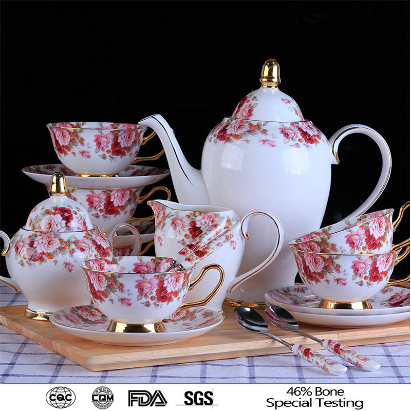 15 pieces royal albert types of fine bone china coffee sets ceramic tea sets