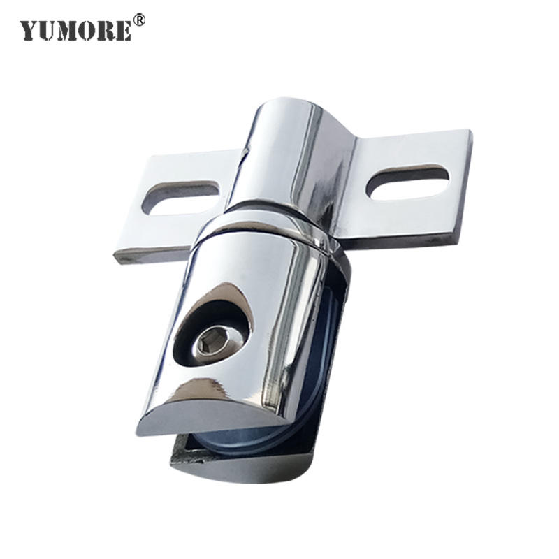 High class chrome plated glass fittings accessories half round unique glass clips