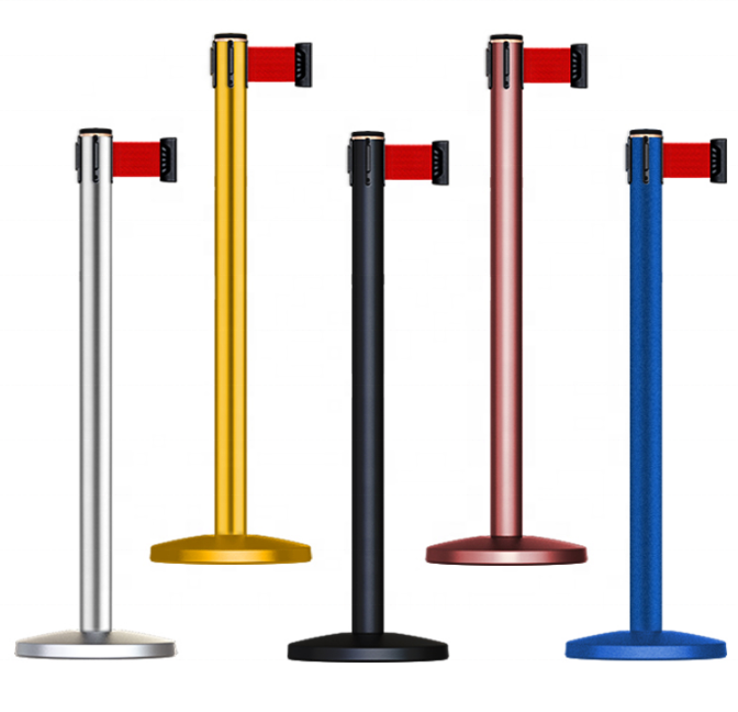Multiple uses Retractable Belt Safety Crowd Control Barrier Stanchion