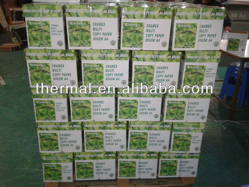 Hot selling promotional price beautiful package design 100% wood pulp whiteness 102%-104%A4 copy paper 80gsm