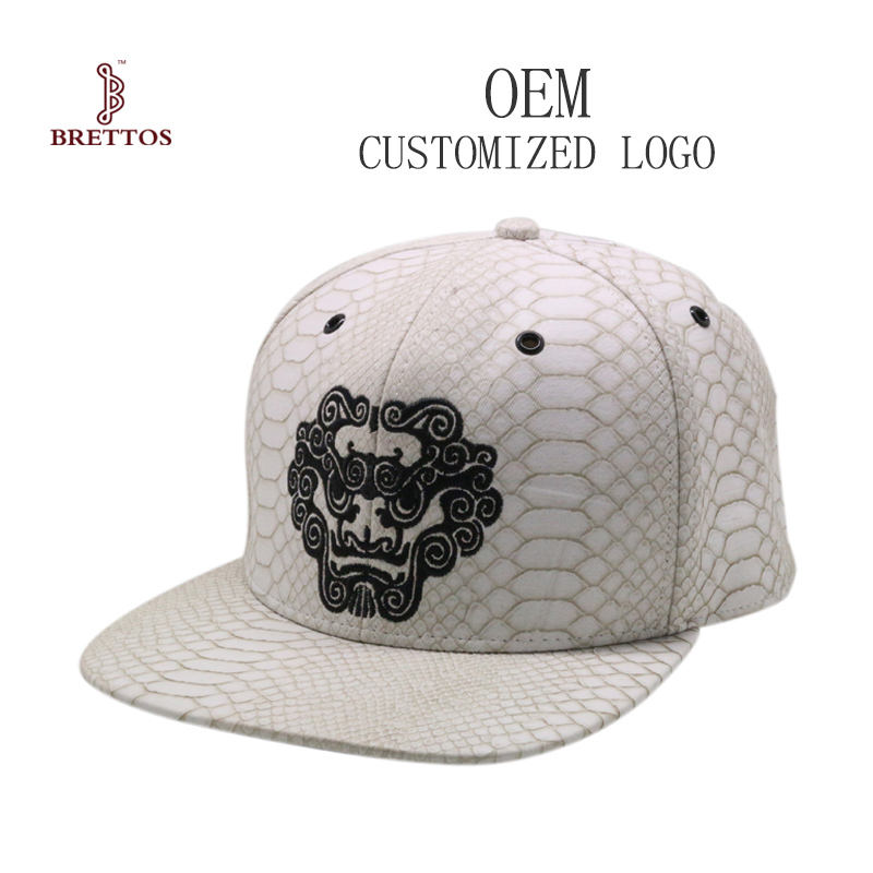 Factory OEM Fashion High Quality Embroidery Custom Leather Hat Cap