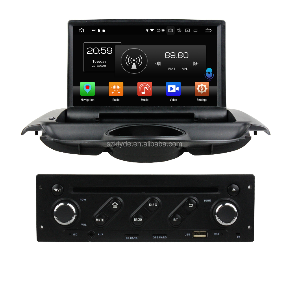 made in China cheap high quality hanstar screen dual-screen interactive mobile Internet car dvd player for PG 206 2004-2017