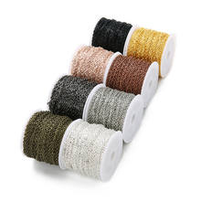 Bulk Multi Colors Iron Roll Women Men Gold Chain Necklace Chains For DIY Jewelry Making