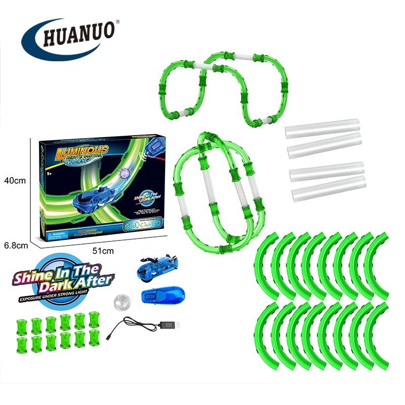 Boys likest luminous remote control track crazy remote car toy remote track