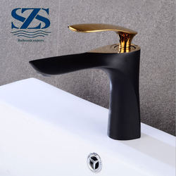 black baking brass material basin faucets supplier