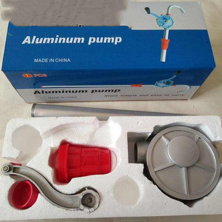 Manual hand oil pump Aluminum portable hand operated manual suction rotary hand oil pump