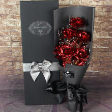 China Factory Direct Sale Beauty 24k gold roses with gift box