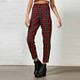 2016 New Fashion Spring Women Tartan Trousers Red Plaid Pants HSP8260
