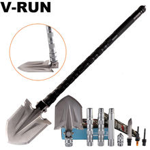 High quality Folding multi-function Tactical Shovel camp shovel multi tool retractable shovel for outdoor activities