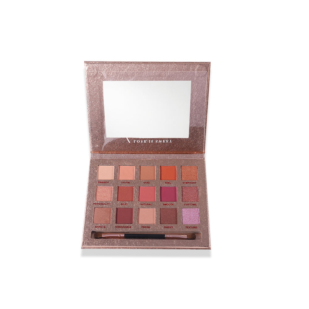 HOJO Marble Eye Shadow Palette 15 Colors Luxury Packaging With Mirror Magnetic Makeup Eyeshadow Palette With Eye Shadow